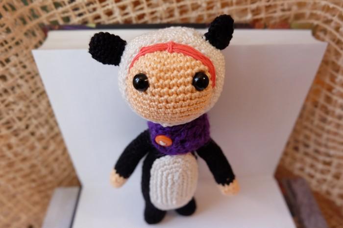 Пятничные мишки Вязание крючком, Пятничный тег моё, Кукла, Медведь, Костюм панды