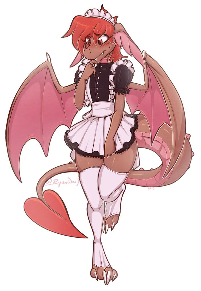 Горничная дракон Its a trap!, Furry trap