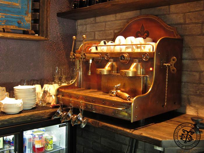 Как я делал кофемашину Ремесло, Медь, Своими руками, Кофемашина, Кофе, Мастерство, Длиннопост, Стимпанк