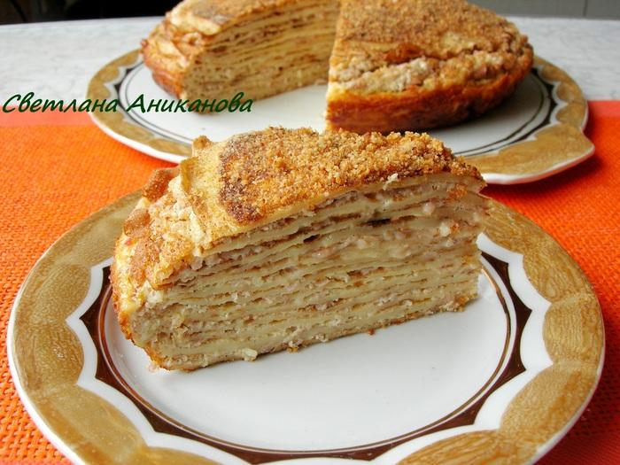 Венгерский блинный торт Рецепт, Еда, Видео, Кулинария, Закусочный торт, Блинный торт, Торт из блинов, Длиннопост