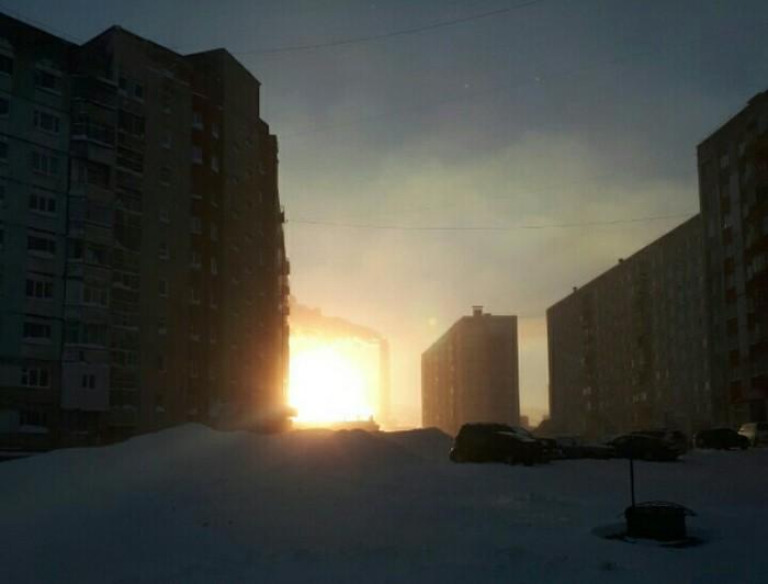 Первое солнце в Норильске.