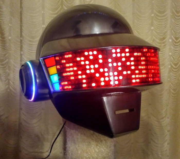 Самодельный шлем Daft Punk своими руками за 10месяцев (шлем Томаса) + видео Daft punk, Рукоделие с процессом, Моё, Длиннопост, Шлем, Thomas, Helmet, Видео