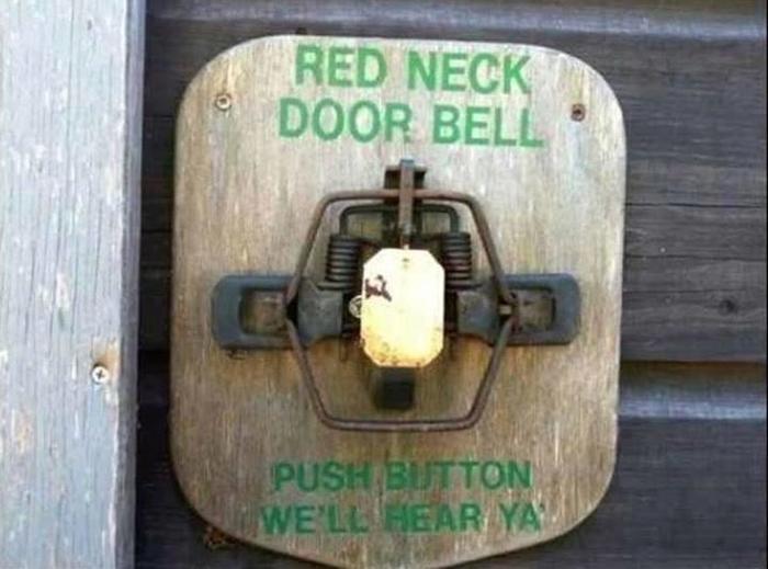 Реднечий дверной звонок. Дверной звонок, Колхоз, Реднек