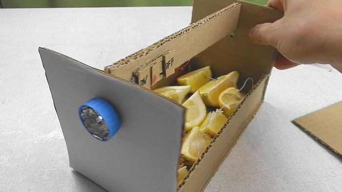 Извратился: сделал фонарик из лимона) творчество, простая самоделка, фонарик, Поделка ребенок, сделай сам, как сделать фонарик, эксперимент