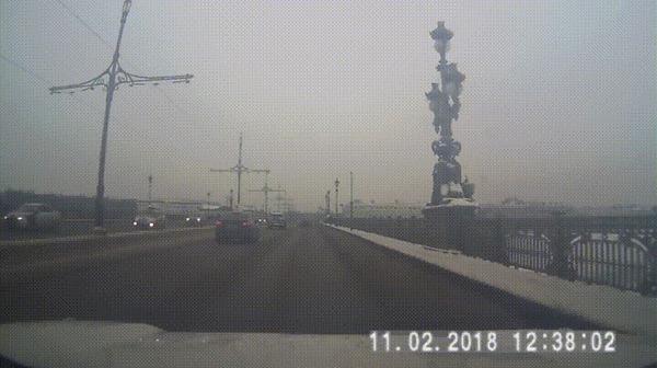 Повезло #16 ДТП, Санкт-Петербург, Мост, Бордюр, Везение, Видео, Гифка, Бордюр или поребрик