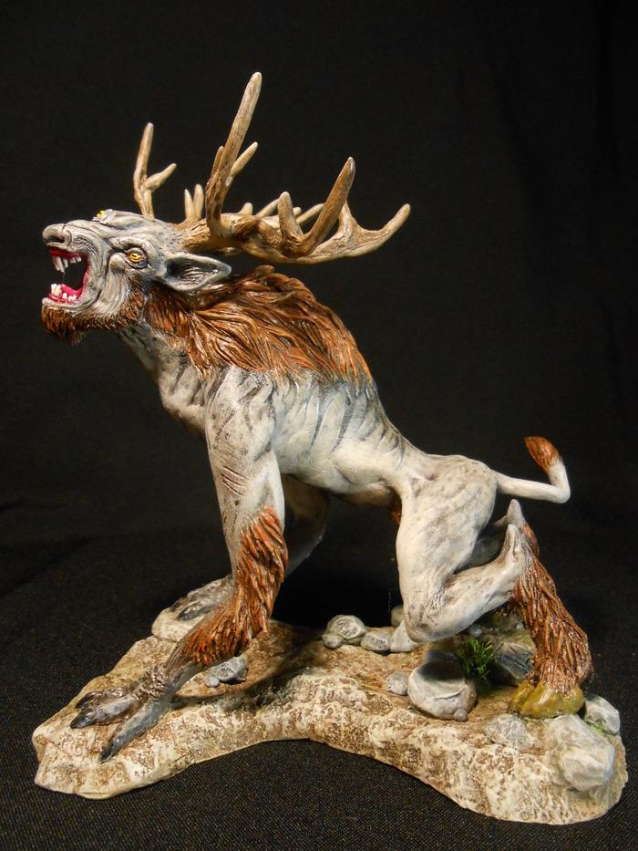 Бес (Fiend) — чудовище из игры Ведьмак 3: Дикая Охота. The Witcher 3:Wild Hunt, Ведьмак 3, Бесы, Черт, Фигурка, Статуэтка, Своими руками, Полимерная глина, Длиннопост