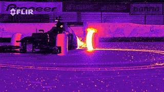 Болид F1, через тепловизор