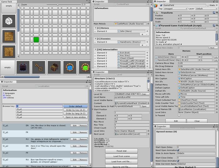 Кастомные редакторы для Unity3D, которые мы используем в игре Steam, Indie, Ранний доступ, Длиннопост, Unity, Gamedev, Разработка игр, Unity3d, Гифка