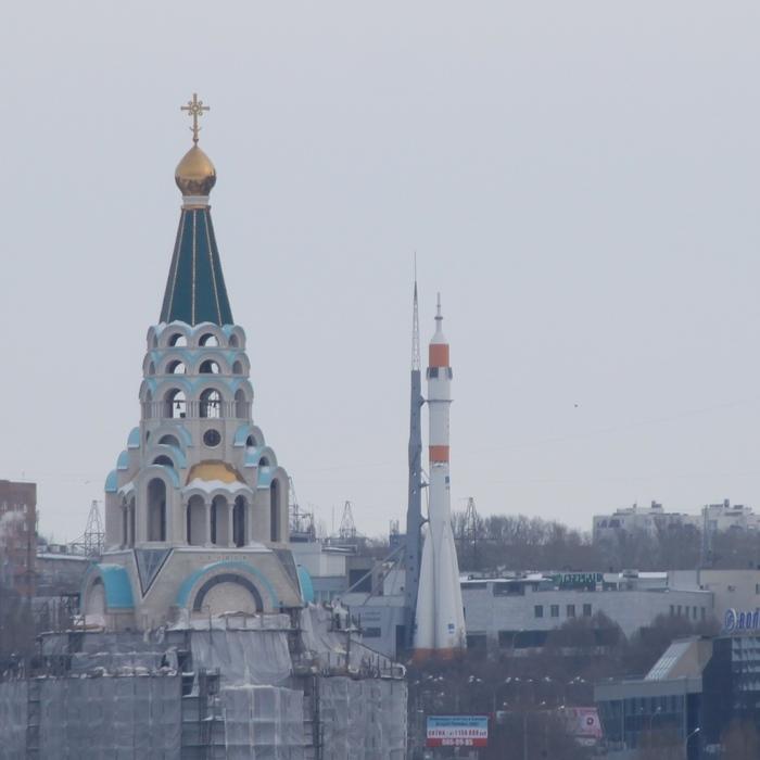 Два пути на небо Фотография, Самара, Ракета, Церковь