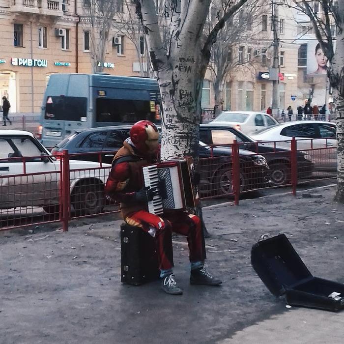 Серые будни Волгоградских супергероев Волгоград, Баян, Аккордеон, Железный человек, Marvel