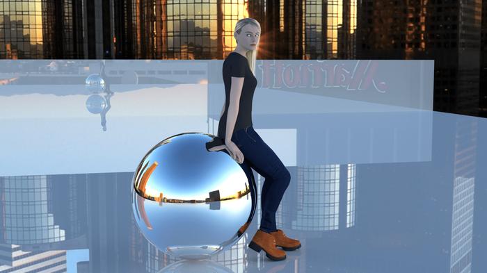 The journey begins here 3d, 3d моделирование, Компьютерная графика, 3d-Модель лица, 3D графика, Моё, Творчество