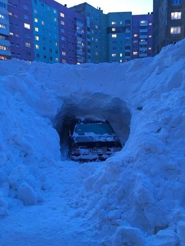 Откопал #2 Норильск, Снег, Машина, Мерседес, Раскопки
