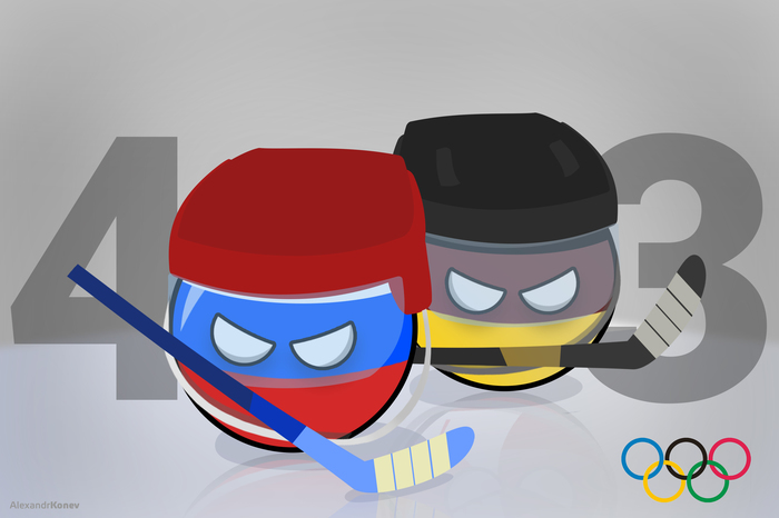 Россия - чемпион! Countryballs, Хоккей, Олимпиада 2018