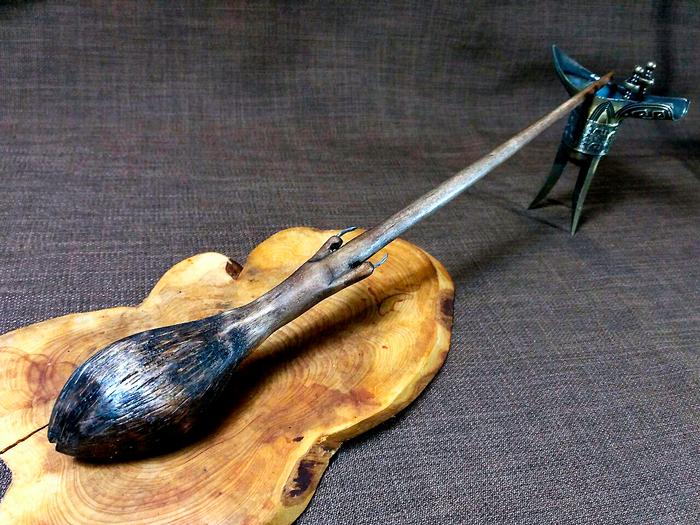 """Волшебная палочка с сердцевиной """"Акромантул"""" + процесс изготовления Гарри Поттер, Джоан Роулинг, Рукоделие с процессом, Волшебная палочка, Своими руками, Длиннопост, Паук"""