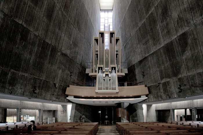 Собор Пресвятой Девы Марии в Токио Собор, Архитектура, Фотография, Япония, Токио
