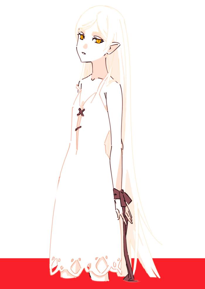 Белоснежная Киссшот Аниме, Anime Art, Monogatari series, Kiss-Shot