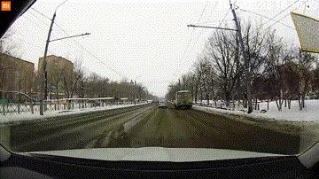 Внезапно #13 ДТП, Оренбург, Внезапно, Гифка, Видео, Видеорегистратор, Негатив, Обгон