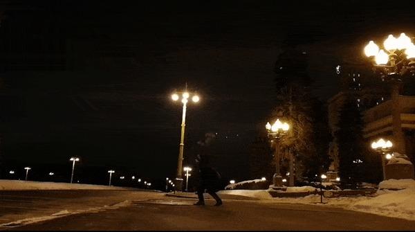 Москва. Морозы Мороз, Вода, Москва, Гифка, Slow motion