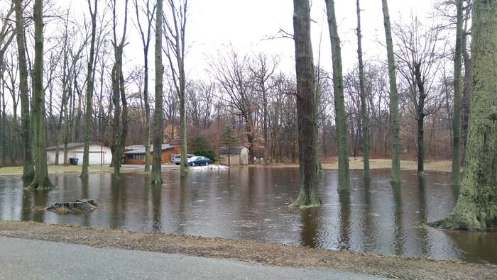 Фоторепортаж последствий ранней оттепели и паводка в Мичигане Мичиган, Наводнение в Мичигане, Потоп, Одноэтажная Америка, Жизнь в Америке, Видео, Длиннопост