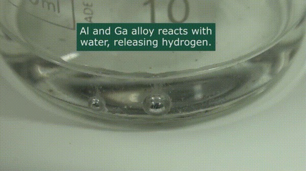 Галлий в гифках Химия, Галлий, Гифка, Лига химиков, Металл, Жидкий металл, Эксперимент, Длиннопост