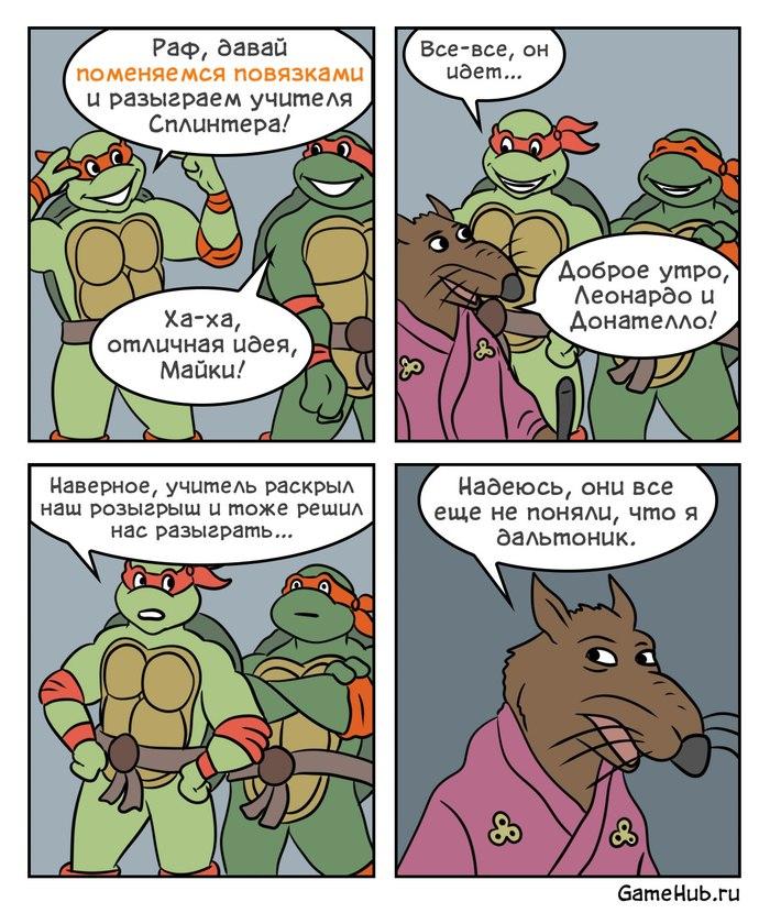 Розыгрыш Комиксы, Черепашки-Ниндзя, GameHub, Дальтонизм