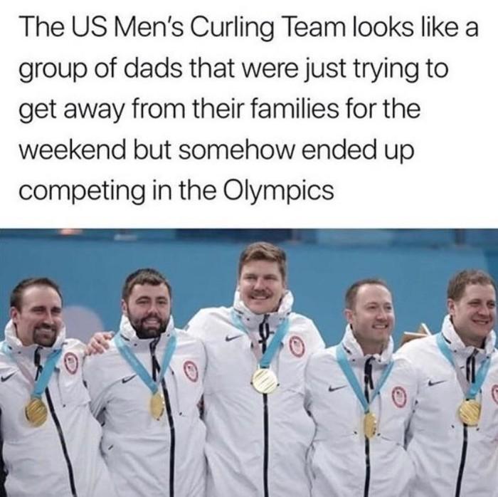 Подозреваю, что именно так всё и начиналось ) США, Спорт, Олимпиада, Керлинг, Сборная, Медалисты