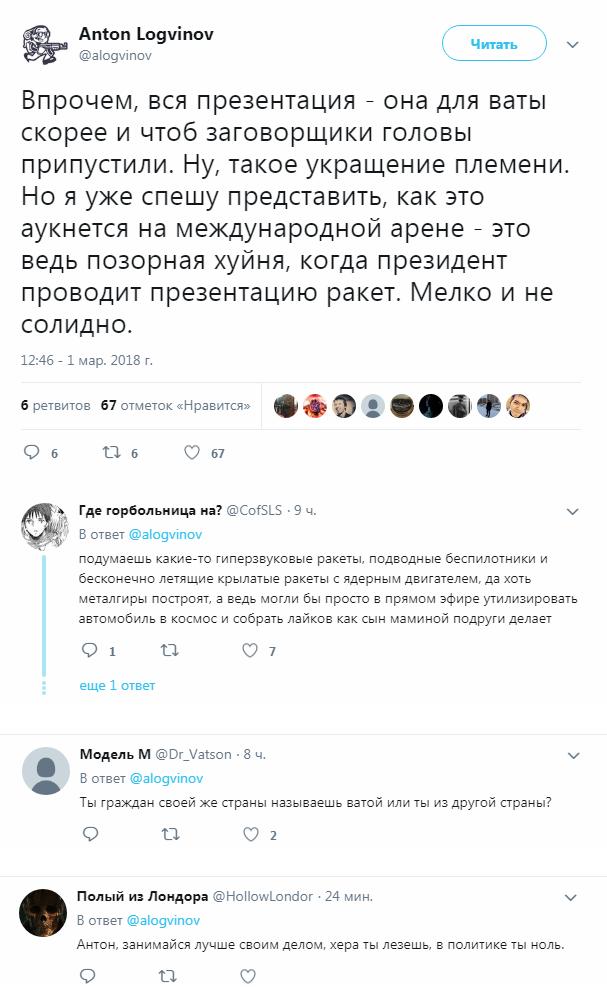 Геополитик 10 из 10 Обращение президента, Политика, Антон Логвинов, Twitter