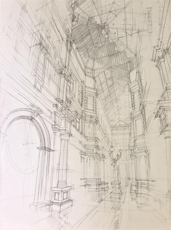 Скупой архитектурный рисунок. Архитектура, Рисунок карандашом, Криворукость