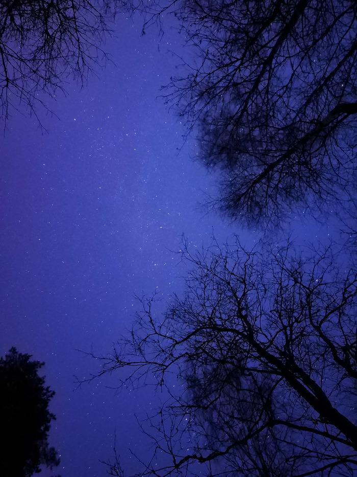 Звёздное небо на телефон Звездное небо, Длинная выдержка, Смартфон, Фотография, Небо, Закат, Теги явно не мое, Длиннопост