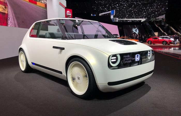Honda будет продавать в Европе стильный электрокар Хонда, Honda Urban EV, Концепт, Электро кар, Автосалон, Длиннопост, Авто