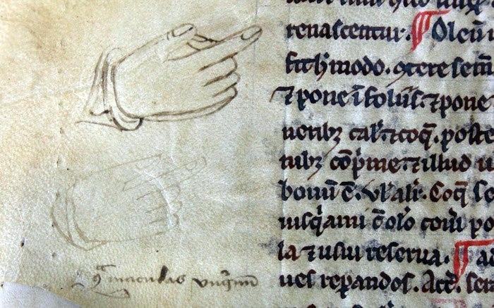 Пометки на полях средневековых книг с целью отметить нужные строки. Средневековье, Метки, Книги, Длиннопост, Рукопись, Historyporn