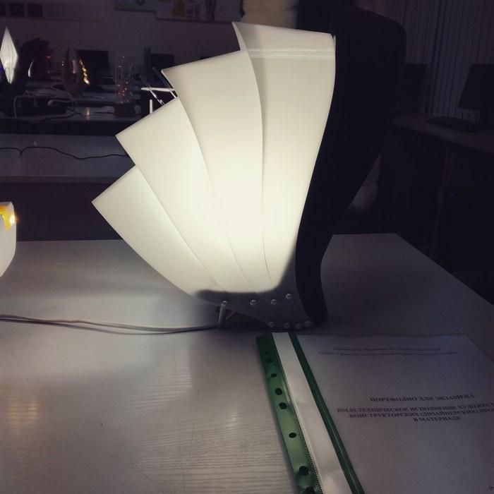 "Лампа ""Clamys Shell"" Лампа, Настольная лампа, Рукоделие с процессом, Ручная работа, Теги явно не мое, Длиннопост"