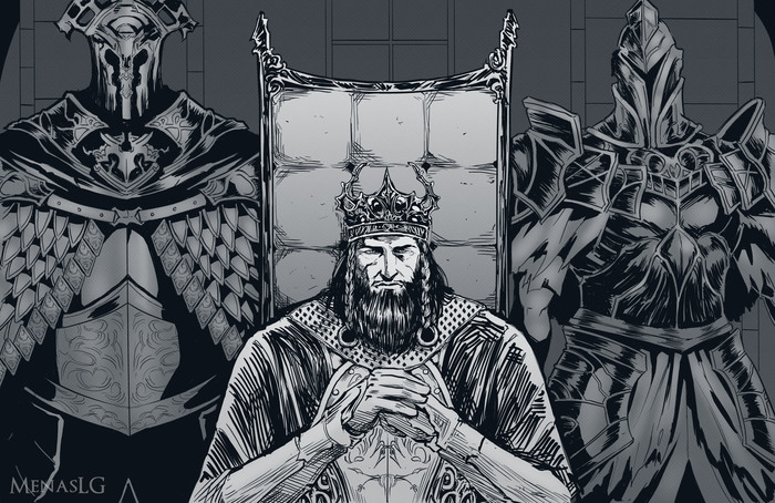 Вендрик и Королевские защитники Dark Souls, Dark Souls 2, Raime, Velstadt, Vendrick, Арт