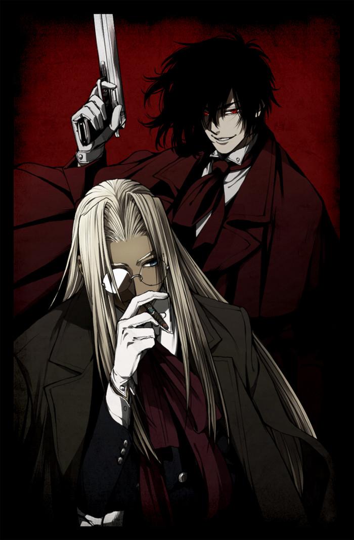 Мастер и слуга Аниме, Anime Art, Hellsing, Алукард, Integra Hellsing
