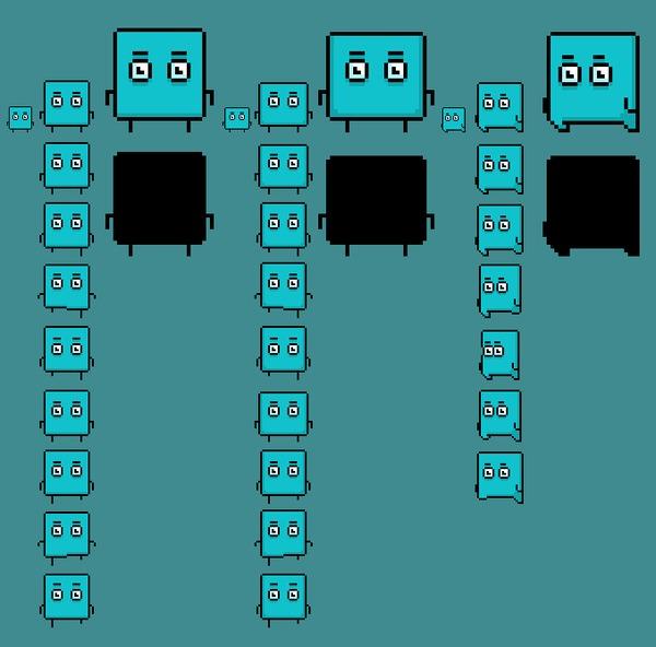 Пиксель или НЕпиксель? И немного об анимации... Gamedev, Пиксель, Анимация, Покадровая анимация, Инди, Размышления, Гифка, Длиннопост