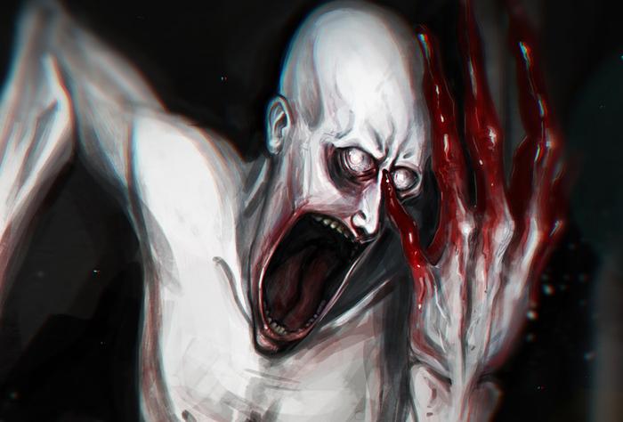 Рисунок для арт-конкурса SCP: Secret Laboratory SCP, Рисунок, Конкурс, Steam, Хоррор, Ужасы, Длиннопост
