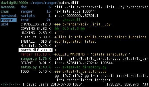 Файловый менеджер Ranger Рейнджеры, Linux, Ascii, Длиннопост, Open Source