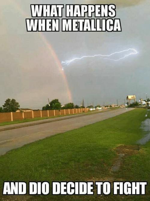 Когда Металлика и Дио решили биться! Metallica, Дио, Юмор