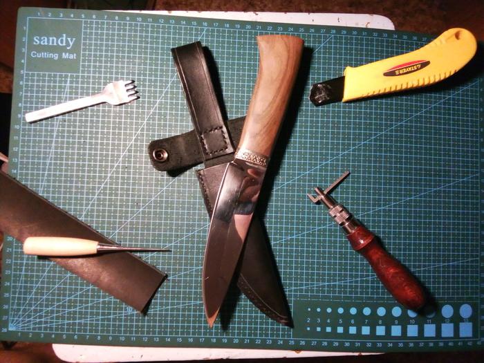 Ножны для коллеги Ножны, Ручная работа, Кожа, Кожевенное ремесло, Натуральная кожа, Длиннопост
