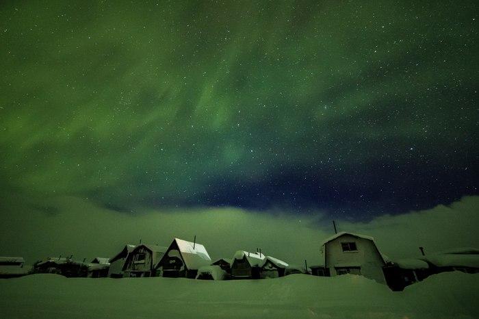 18 марта. Мурманская область Северное сияние, Мурманск, Север, Длиннопост, Фотография