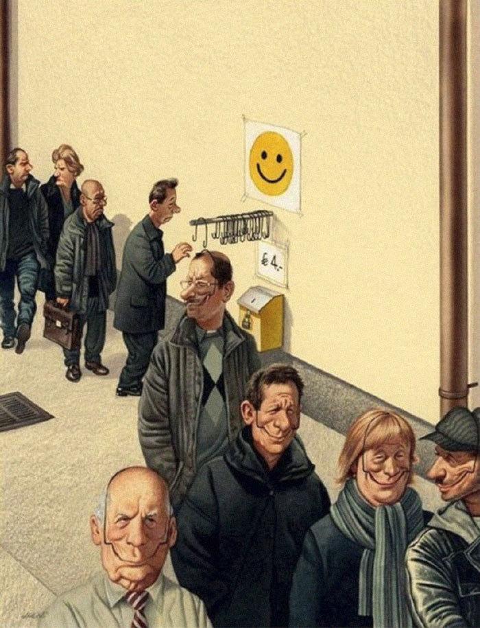 10 илюстраций от Гертхарда Хадерера Gerhard Haderer, Иллюстрации, Картинки, Длиннопост