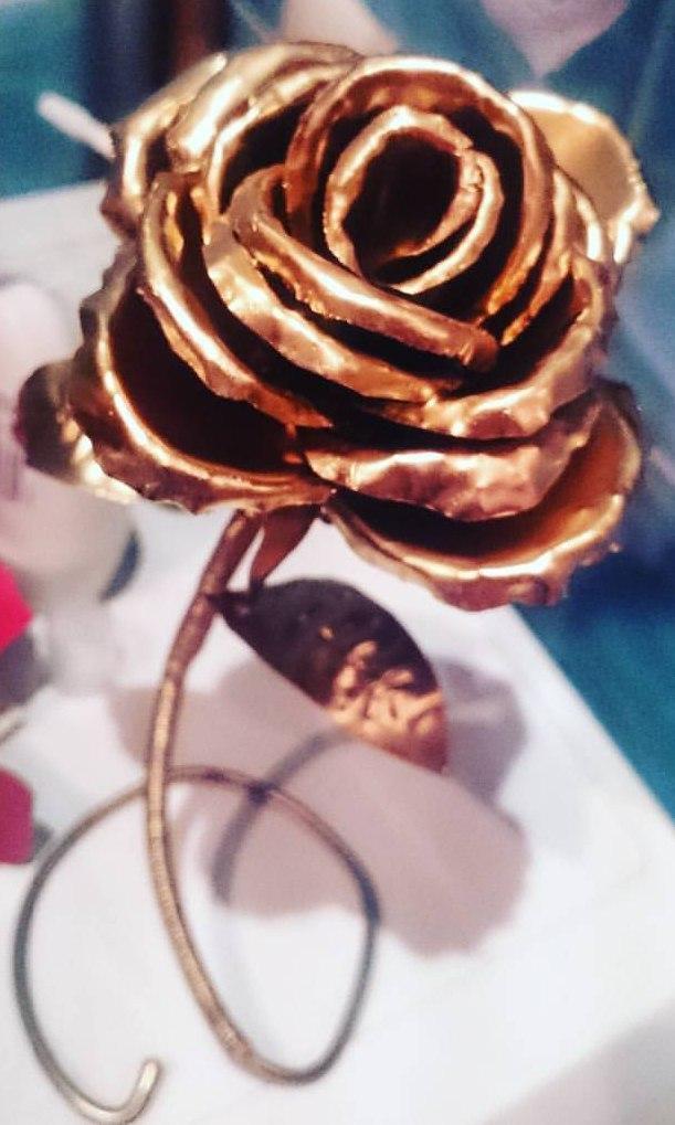 Роза из жести. Роза, Роза из металла, Цветок, Своими руками, Подарок, 8 марта, Рукоделие без процесса