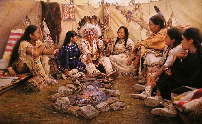 Индейцы. Трубка, Тишина, Общение, Фотография, Индейцы