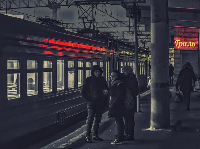 Красный свет городский артерий.