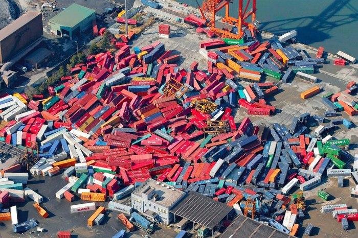 Лего логиста Логистика, Контейнер, Порт, Землетрясение, Япония