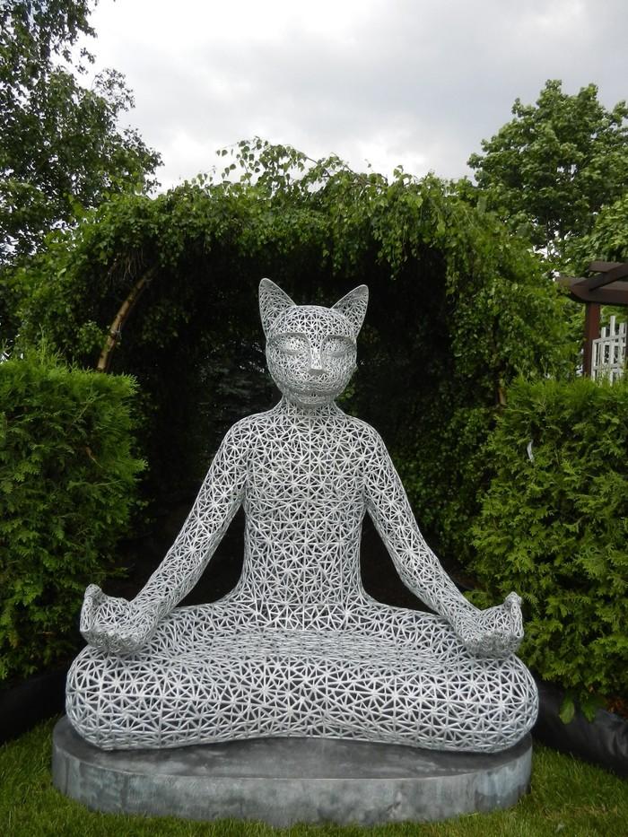 """Медитирующий кот """"ТиÑвами"""" не мое, кот, сварщица, золотые руки, длиннопост"""