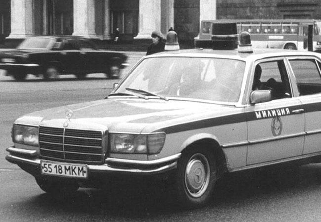 Mercedes 450 SEL W116 милиция CCCР