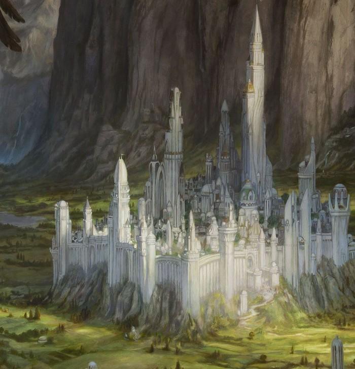 Гондолин Арт, Картинки, Толкин, Средиземье, Гондoлин, Сильмариллион, Фэнтези