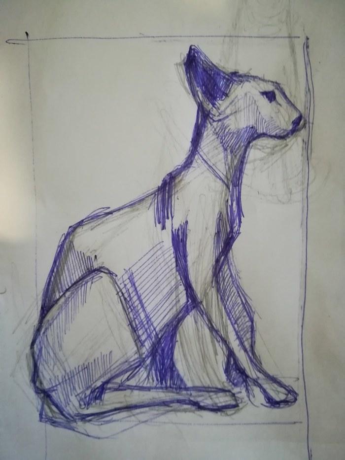 Большой кот Кот, Резьба по дереву, Ольха, Статуэтка, Рукоделие с процессом, Длиннопост
