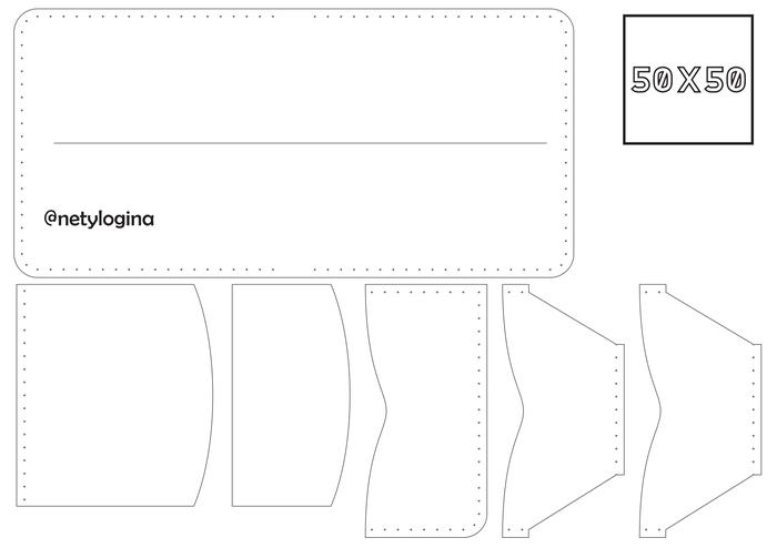 Портмоне 5 карт + мелочь